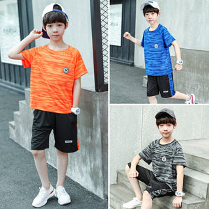 Teens Football Suit Children Basket Boys Child Clothing Set Summer Clothes Kids Teenage Youth Sport Suit 5 6 8 10 12 13 14 Years