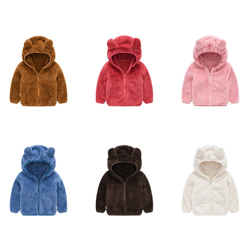 New 2019 spring autumn children kids hoodies sweatshirts baby boys girls polar fleece hoodies outwear soft warm