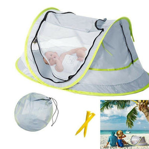 Portable Folding Baby Crib Travel Beach Bed Mesh Tent Mosquito UV Sun Protection NSV775