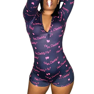 Women Jumpsuit Sexy Bodysuit Long Sleeve Sleepwear Elegant Bodycon Stretch Leotard Button Short Romper Pajamas Women Overalls