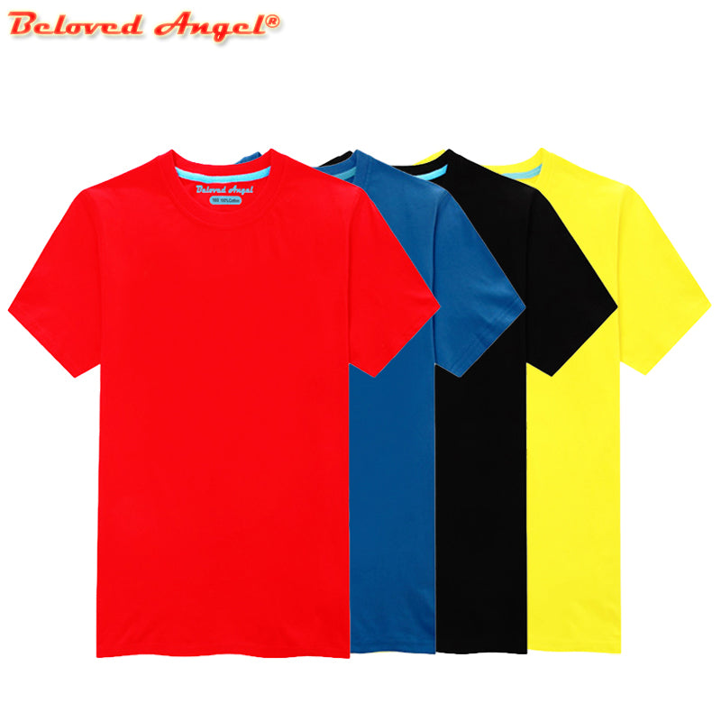 Brand New Children Solid Color T Shirt Baby Boys Girls Short Sleeve Summer Tops Kids Casual Clothes Teen Costume for 3-15 Years
