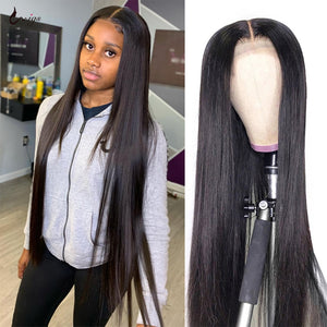 30 Inch Lace Front Wig Straight Human Hair Wigs Lacefront Wig Human Hair Transparent Lace Wig PrePlucked 4x4 Closure Wig UWIGS