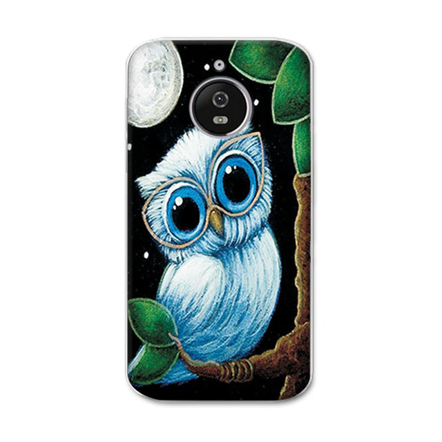 "For Motorola Moto E4 Plus Phone Cases Newest Painted Crown cartoon For coque Moto E 4 Plus 5.5"" e4Plus Soft Tpu Case Cover+Gift"