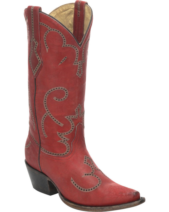 Corral Women's Laser and Tumbling Western Boots