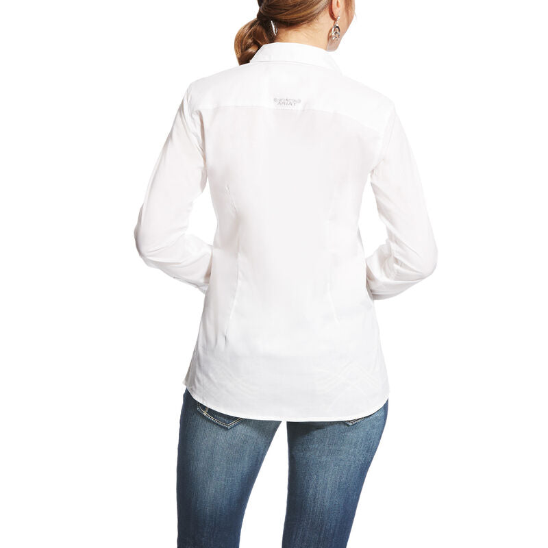 Ariat Women's Kirby Stretch Solid White Shirt