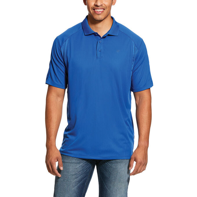 Ariat Men's Cousteau Blue AC Polo