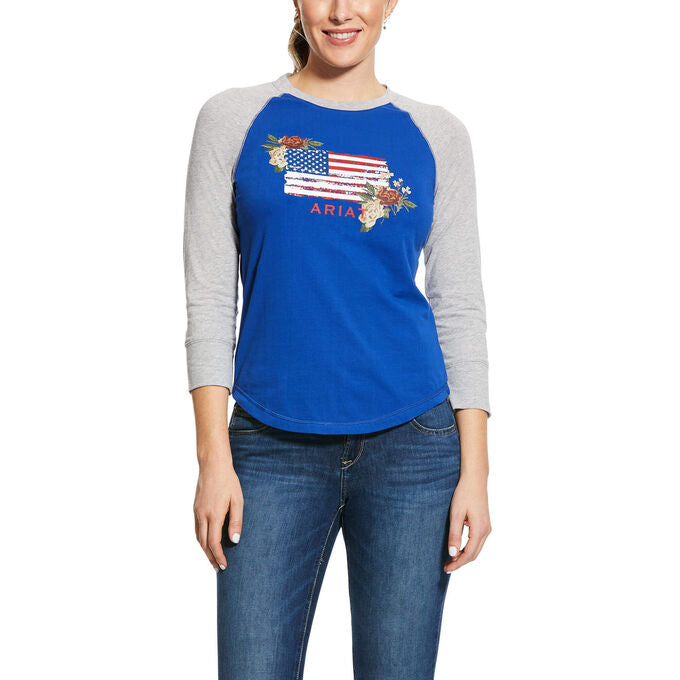 Ariat Women's REAL Vintage Flag T-Shirt