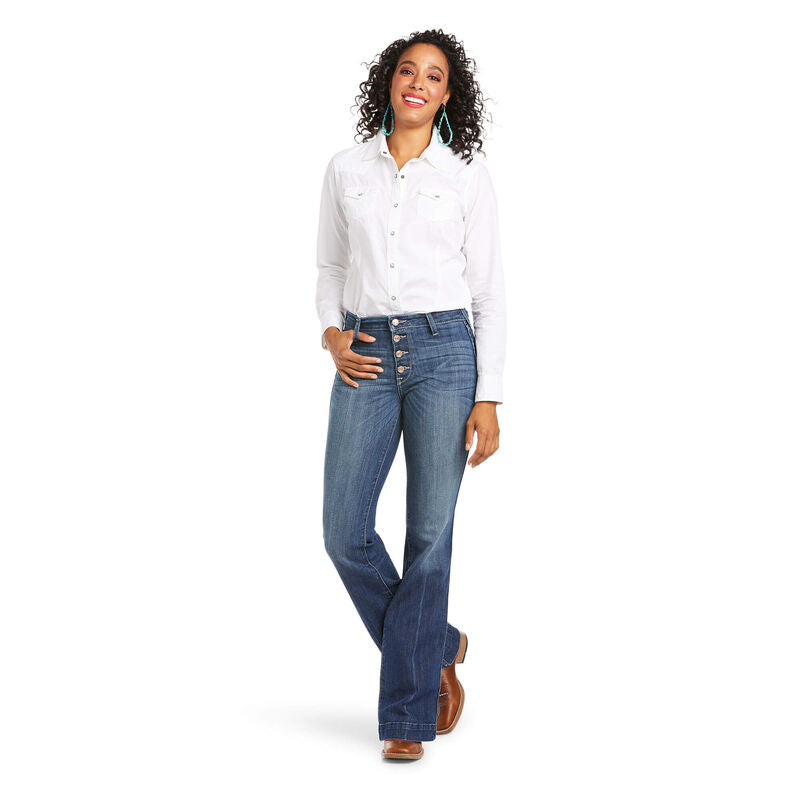 Ariat Women's Slim Trouser Isabella Wide Leg Jean