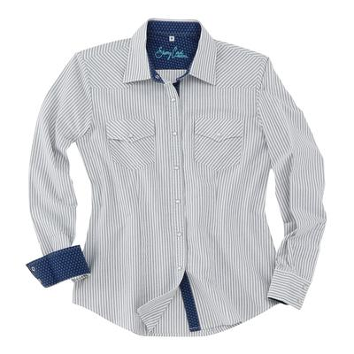 Sherry Cervi Charlotte Pin Stripe Shirt