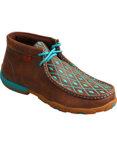 Twisted X Women's Diamond Stitched Lace-Up Mocs