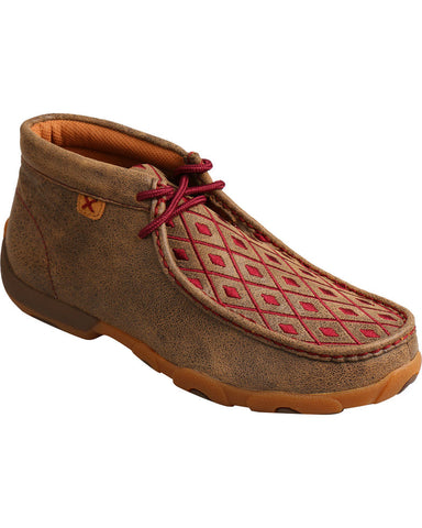 Twisted X Women's Mahogany Diamond Driving Moc