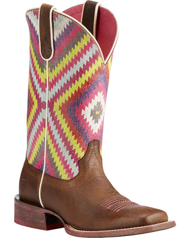Ariat Women's Brown Circuit Savanna Aztec Boots - Square Toe