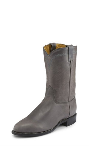 Justin Men's Brock Grey Roper Boot