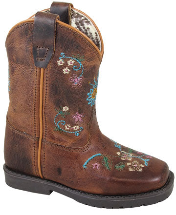 Smoky Mountain Girl's Toddler Floralie Square Toe Boots