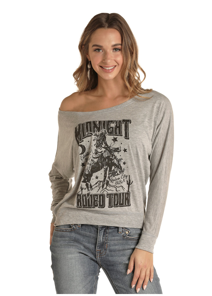 Rock & Roll Cowgirl Midnight Rodeo Tour Top
