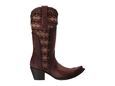 Corral Honey Embroidery & Woven Detail Boots