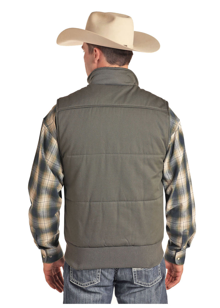 Powder River Men's Concealed Carry Olive Quilted Vest
