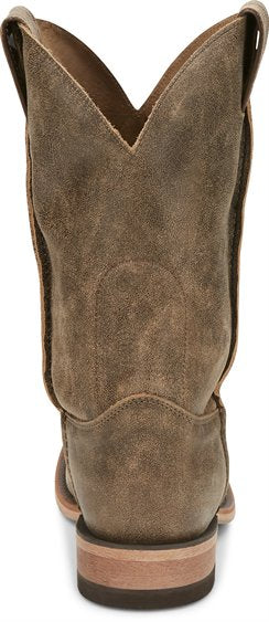 Justin Men's Ryder Distressed Brown Square Toe Boots