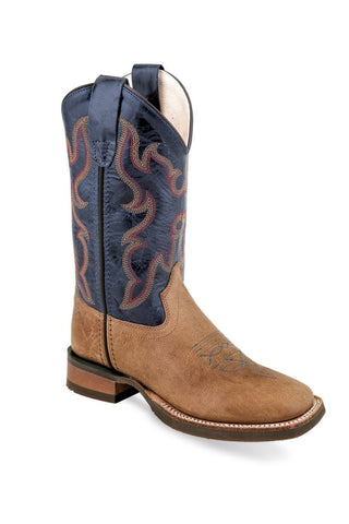 Kid's Old West Tan Western Boot