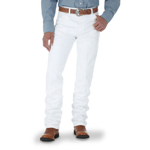 Wrangler Men's Cowboy Cut Original Fit White Jeans