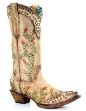 Corral Saddle Nopal Cactus Embroidery and Studs