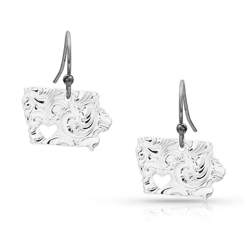 Montana Silver I Heart Iowa State Charm Earrings