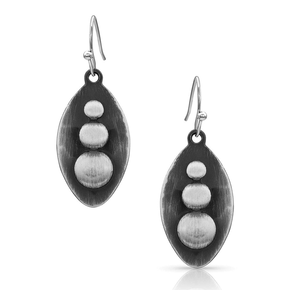 Montana Silversmiths Polished River Rock Earrings