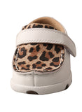 Twisted X Infant/Toddler Driving Moccasins – White/Leopard