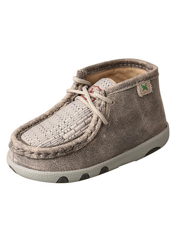 Twisted X Grey/Light Grey Driving Moc Infant-Kids