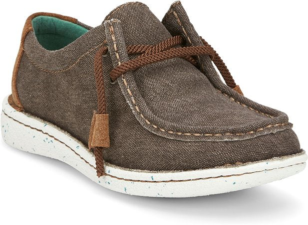 Justin Women's Hazer Canvas Shoe- Taupe