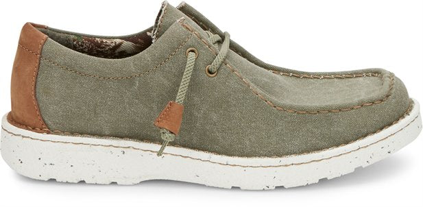 Justin Men's Hazer Canvas Shoes- Sage Green
