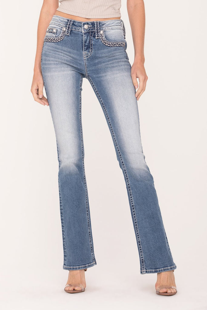 Miss Me Women's Stitched Up Bootcut Jean