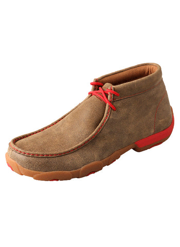 Twisted X Men's Driving Moccasins – Bomber/Red