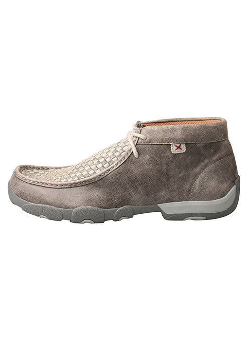 Twisted X Men's Driving Moccasins – Grey/Grey Check