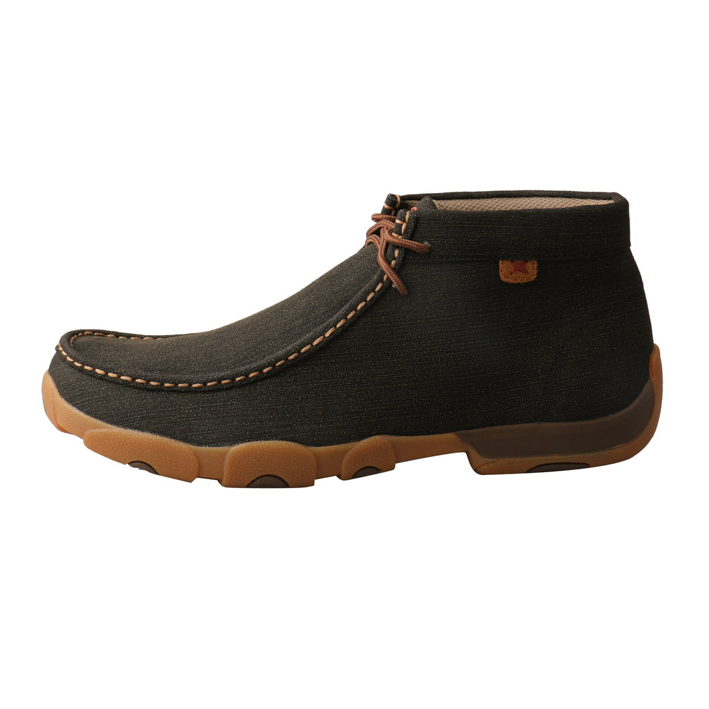 Twisted X Men's Rubberized Brown Driving Moc