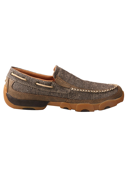 Twisted X Men's Slip-on ECO Driving Moccasins Dust