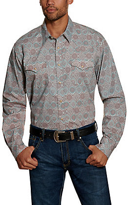 Wrangler Retro Men's Premium Print Long Sleeve Snap Shirt