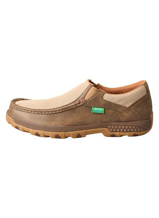 Twisted X Men's Bomber/Khaki CellStretch Eco Driving Mocs