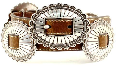 Nocona Concho Brown Belt