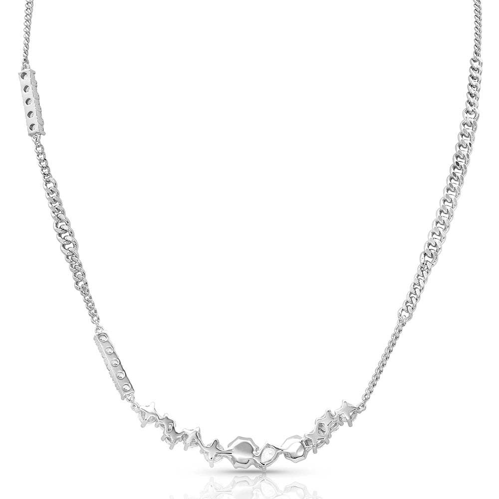 Montana Silver Cluster String Necklace