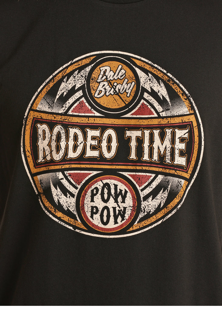 Rock & Roll Men's Dale Brisby Rodeo Time Pow Pow Tee