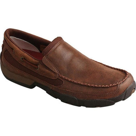 Twisted X Men's Driving Moc Brown Leather