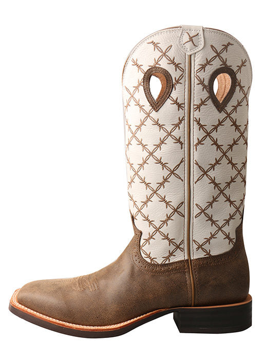 Men's White Twisted X Ruff Stock Boot