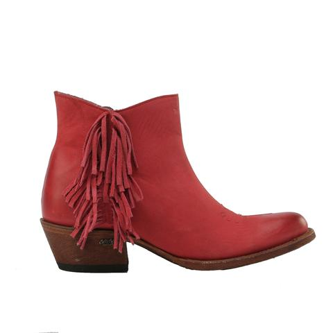 Miss Macie On The Fringe Red Bootie