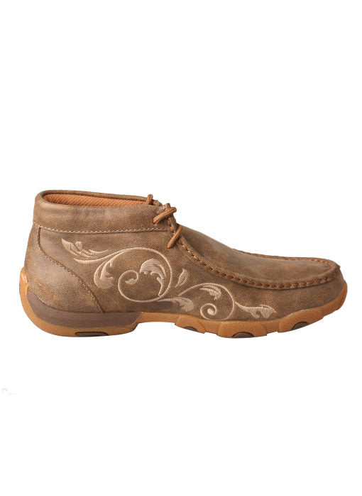 Twisted X Women's Tan Embroidered Driving Moc