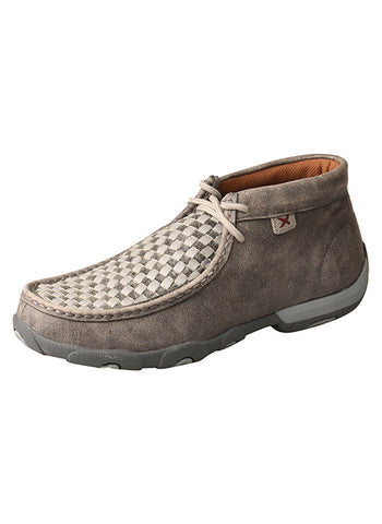 Twisted X Women's Grey Check Driving Mocs