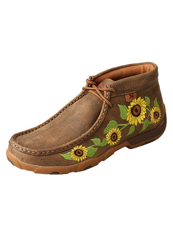 Twisted X Women's Sunflower Driving Moc