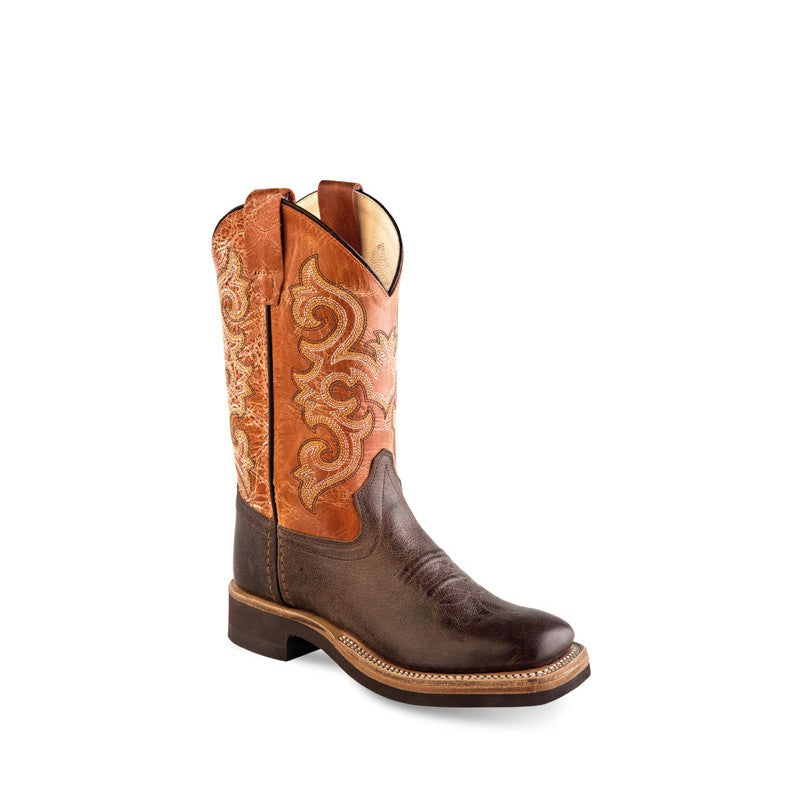 Kid's Old West Broad Square Toe Boots
