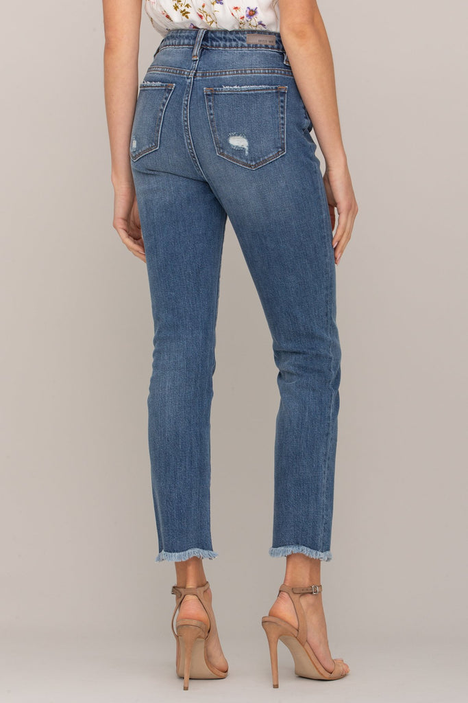 Miss Me Women's High-Rise Ankle Straight Jean