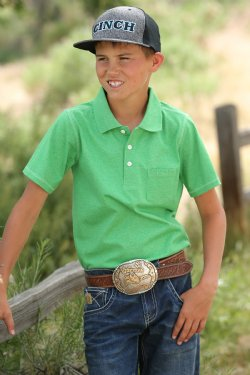 Boy's Cinch Green Polo